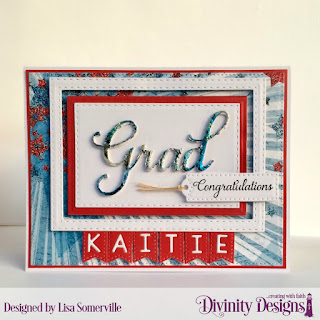 Divinity Designs Stamp Set: Dream Big, Custom Dies: Treat Tags, Alphabet Flags, Pierced Rectangles, Rectangles, Double Stitched Rectangles, Grad, Paper Collections: Old Glory, Patriotic