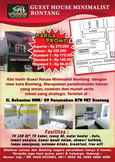 Guest House Minimalis Bontang Update Harga 2017 Terbaru Yuk