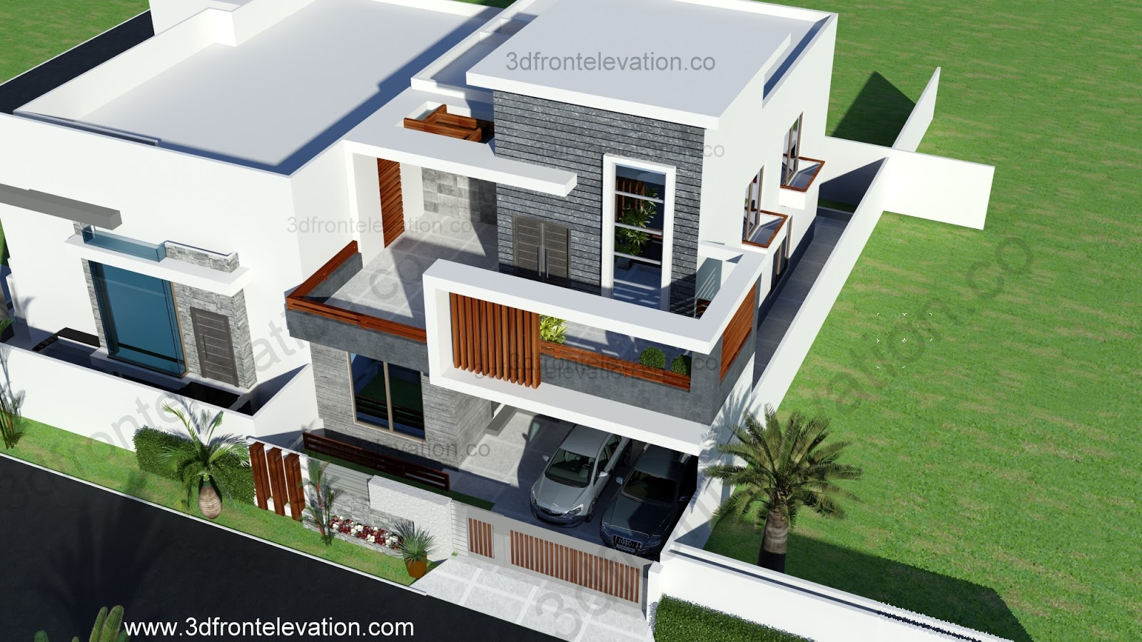 Home Design Ideas Elevation: 3D Front Elevation.com: 10 Marla Contemporary House Design