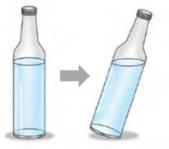 ilustrasi sifat benda cair dalam botol