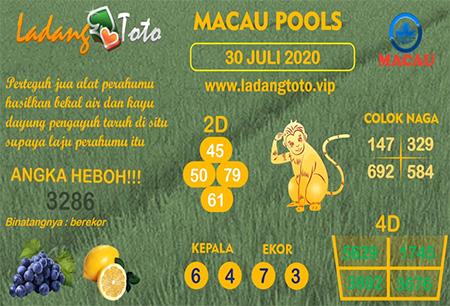 Prediksi Ladang Toto Macau Kamis 30 Juli 2020