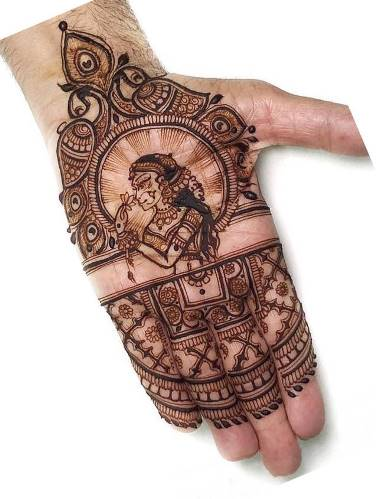 Love Mehndi Design for front hand