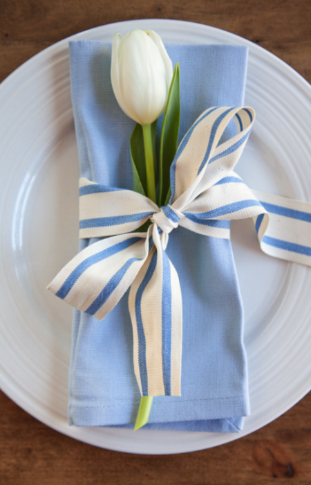 Simple Easter Place Setting from Boxwood Clippings