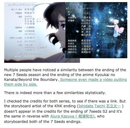 Staf Anime 7SEEDS Mengganti Urutan Ending Season 2 karena Dikatakan Mirip dengan Ending Kyoukai no Kanata