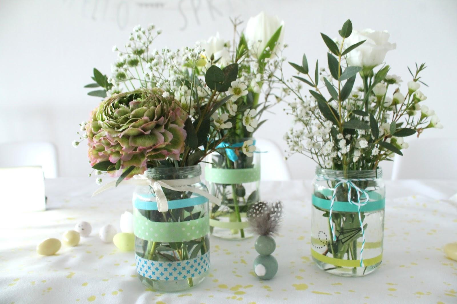 Blumen Tischdeko Geburtstag Vintage Tischdekoration Zum 50