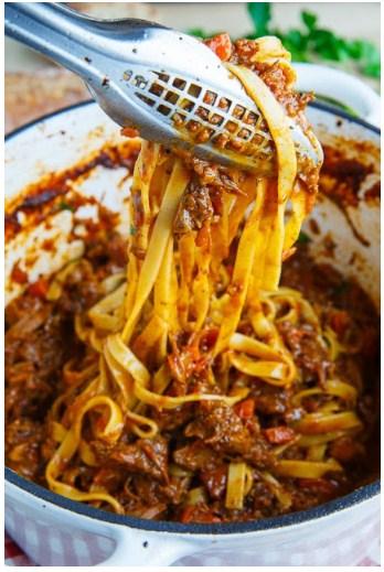 Tagliatelle Short-rib Bolognese - Food And Cake Recipes