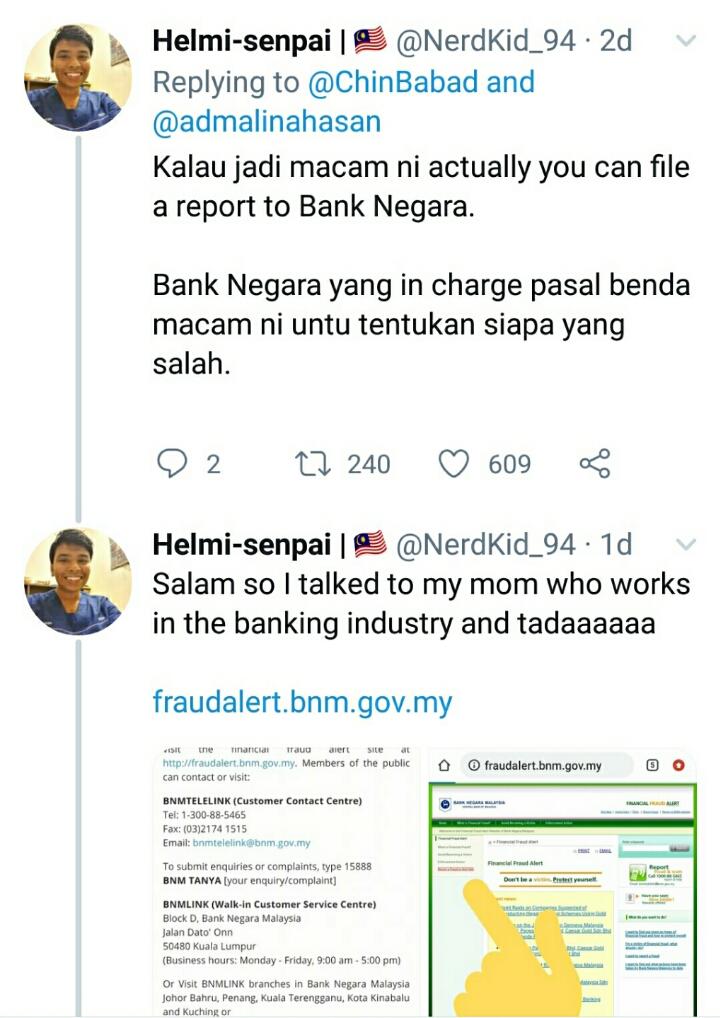 apa yang anda harus buat bila duit simpanan hilang di bank