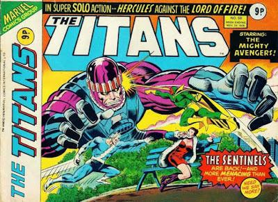 Marvel UK, The Titans #58, final issue, Avengers vs Sentinels