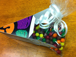Thanksgiving Cake Box filled with Sixlets