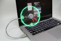 USB Led Clock Fan