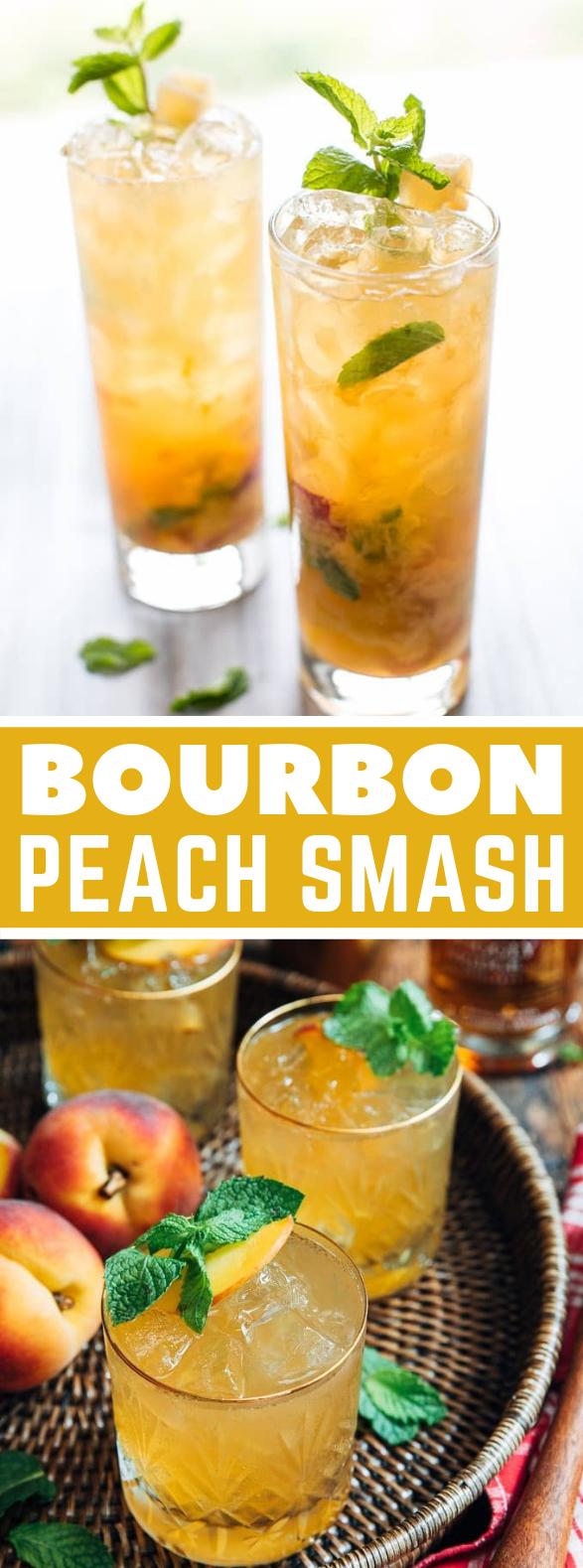 BOURBON PEACH SMASH #drinks #nonalcoholic