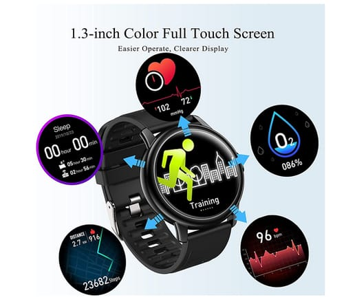 SKMEI Full Touch Color Screen Fitness Smart Watch