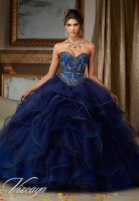 Vestidos de 15 Años Azules