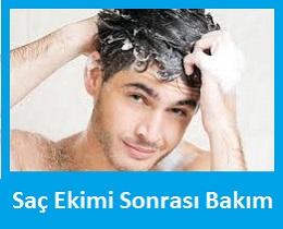 saç ekimi sonrası şampuan kullanımı ve saç yıkama