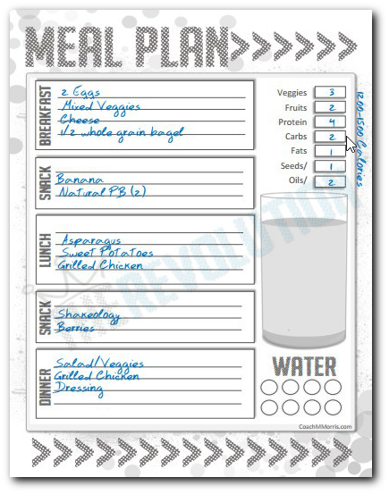 image about 21 Day Fix Printable Meal Planner named 21 Working day Repair: MINI Dinner Software #4 and PLANNER TEMPLATE - In direction of