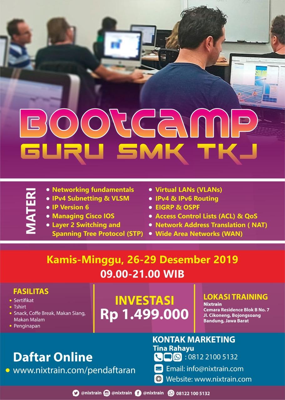 Bootcamp Guru SMK TKJ Desember 2019