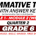 GRADE 6 SUMMATIVE TEST with Answer Key (Modules 1-2) 2ND QUARTER