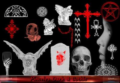 Pinceles Dark & Gothic para GIMP