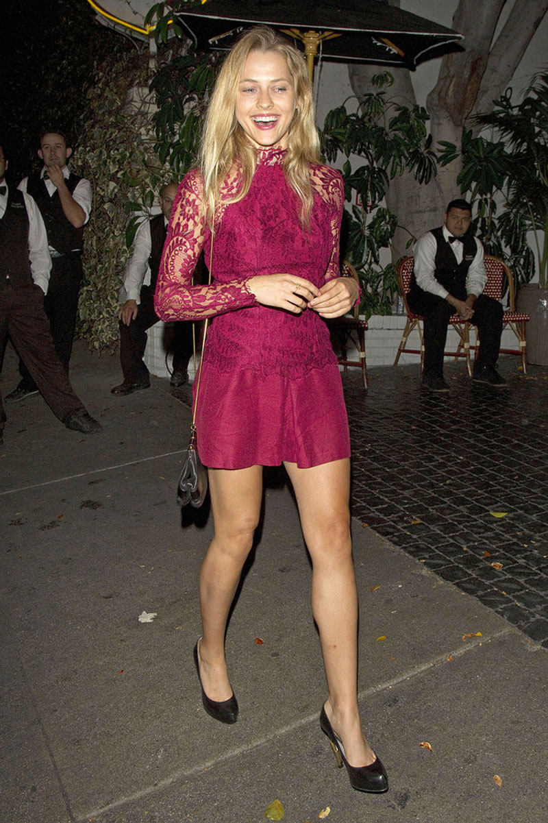 HQ Photos of Teresa Palmer in Short Dress Leaves the Chateau Marmont in West Hollywood
