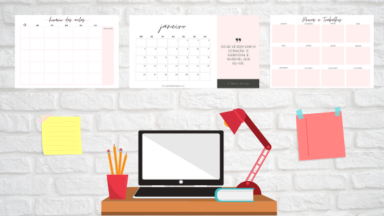 Como utilizar planners e calendários para organizar os seus estudos