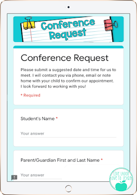 image of an iPad displaying a Conference Request form