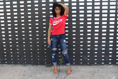 Graphic tee outfit for women
