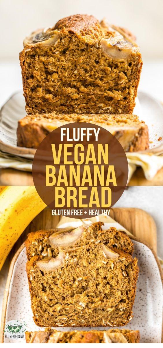 Fluffy Vegan Banana Bread