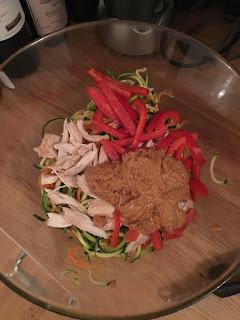 zoodles spiralizer budapest hungary fresh markets organic bio wanderlust chicken thai peanut mix hemsley and hemsley