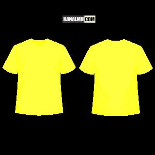 mentahan kaos polos kuning muda lengan pendek PNG - kanalmu