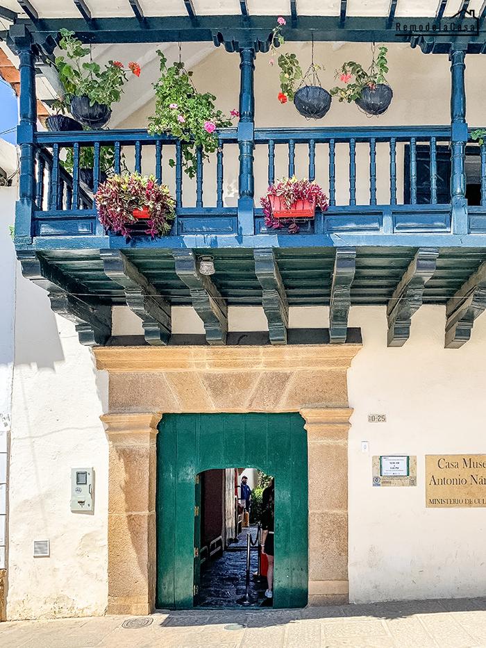 Front door and balcony