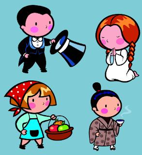 Clip art: Serie de Personajes