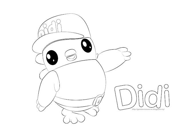 Gambar mewarna watak Didi