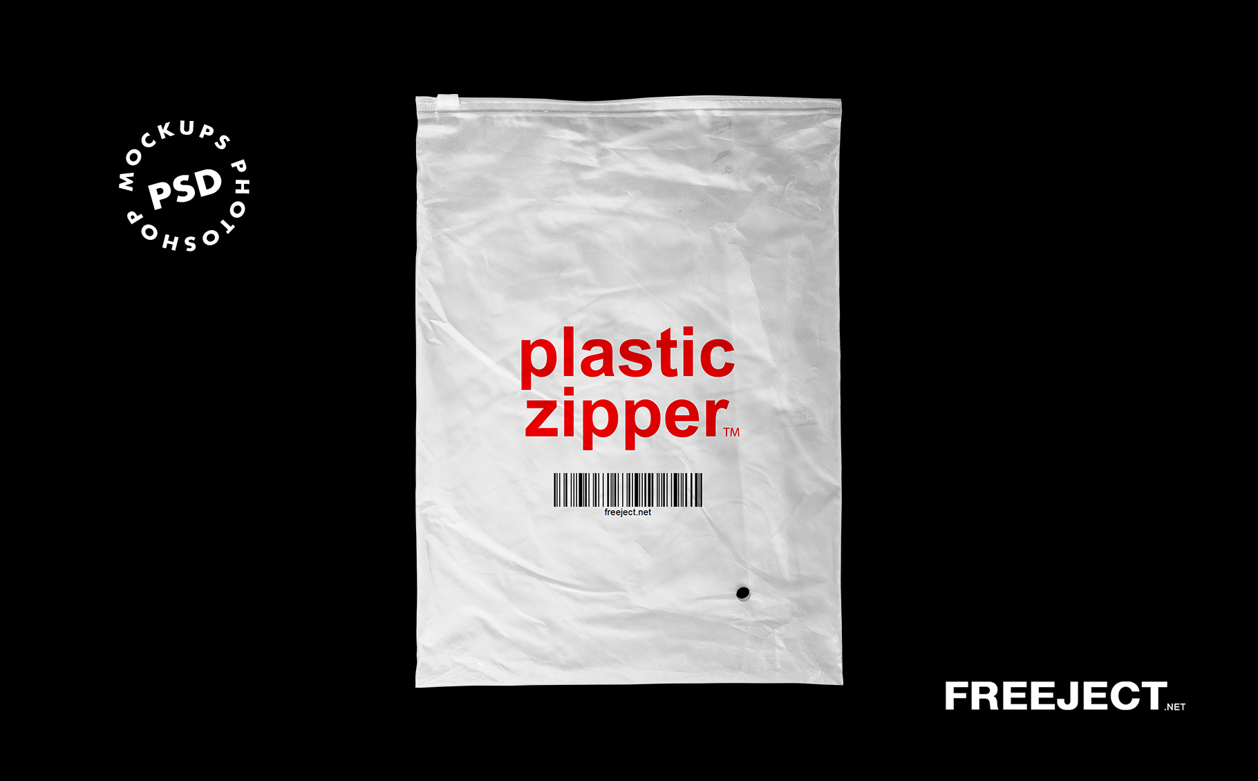 You can edit via smart object and showcase your work. 3 Plastic Zipper Bag Mockups Free Psd File