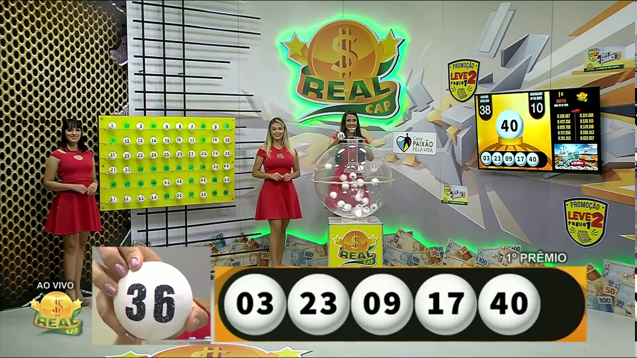 Sorteio ao vivo da loteria real cap