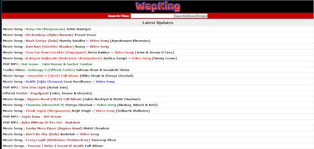 WapKing 2019 Free Bollywood Mp3, Hindi Songs, DJ Remix, TV Serial, Video Songs Download HD, Hindi Movies Download