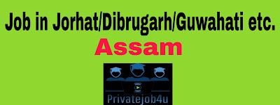 Top 20 Private job in Guwahati/Jorhat/Dibrugarh Assam 2020