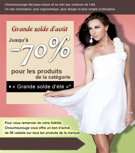 a602ad84ded Grande solde d été pour les robes de soirée Chouchourouge