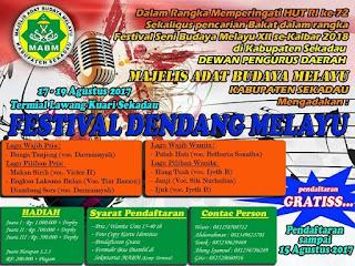 Meriahkan HUT RI, MABM Gelar Festival Dendang Melayu