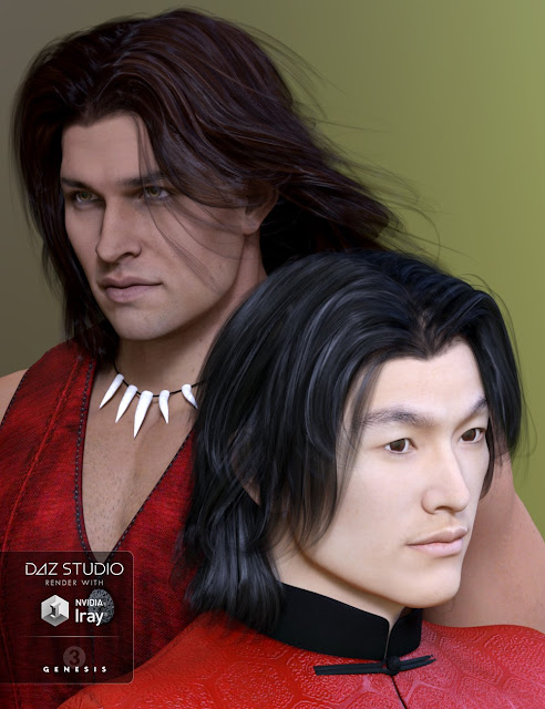 Alex Hair for Genesis 2 Male Genesis 3 Male and Michael 4
