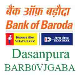 Vijaya Baroda Bank Dasanpura Branch New IFSC, MICR