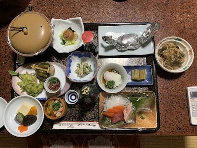 福島屋旅館の夕食