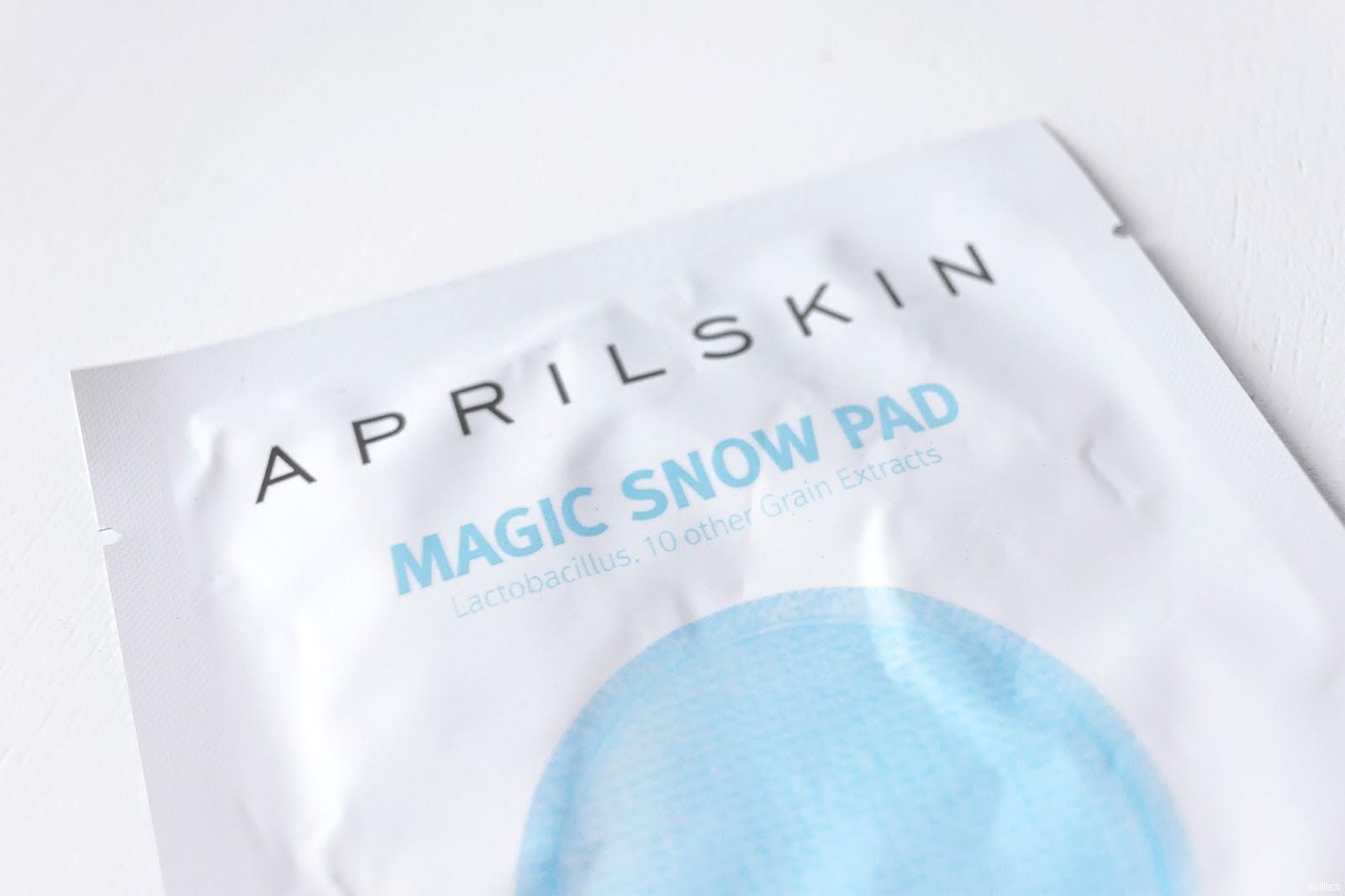 lavlilacs AprilSkin Magic Snow Pad review
