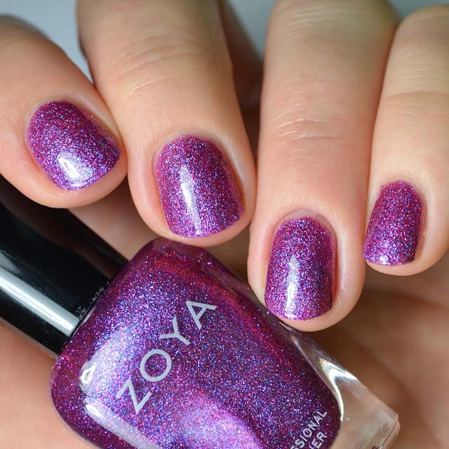 purple holographic nail polish swatch