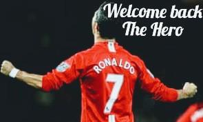 Cristiano Ronaldo back to Man United