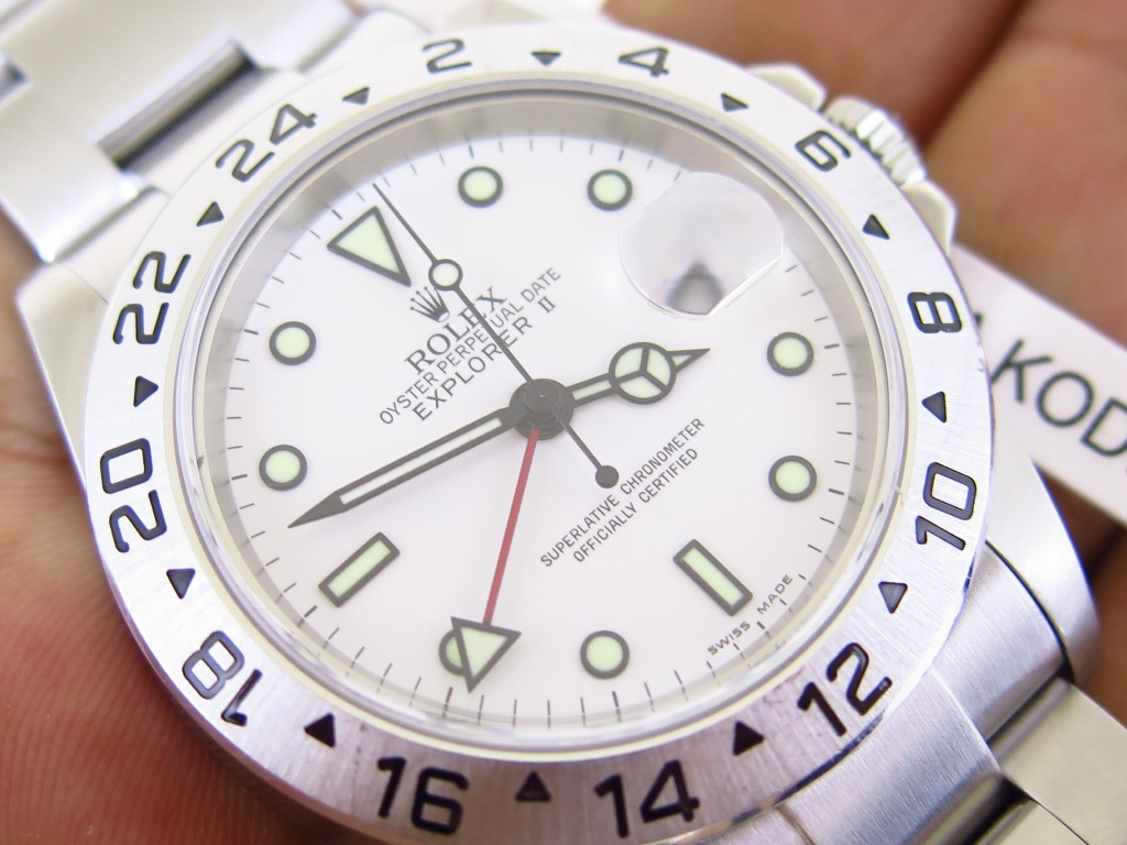 ROLEX EXPLORER II WHITE POLAR DIAL 40mm - ROLEX 16570 SERIE D YEAR 2007