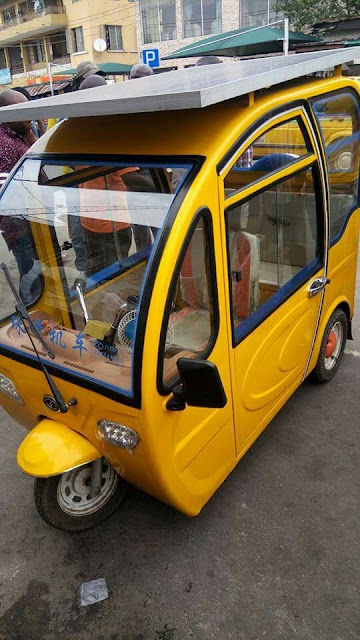 Meet This Tricycle (Keke) Powered by Solar System Made by a Nigerian
