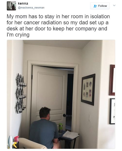 This Husband Watches His Wife By The Bedroom Door. The Reason Behind This Will Surely Break Your Hearts!