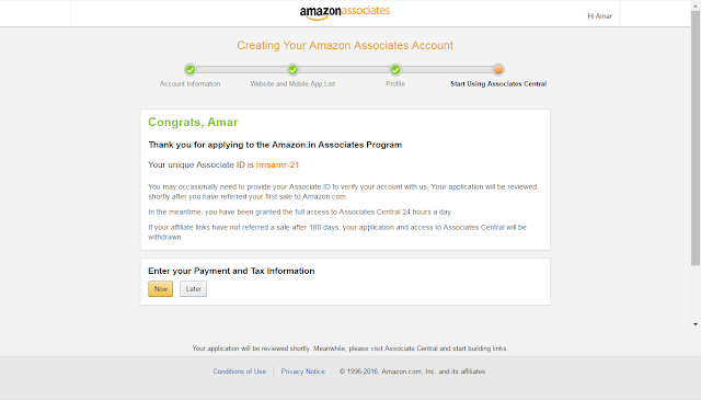amazon-affiliate-approval-message