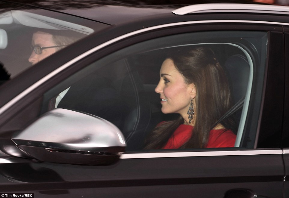A Christmas Prince Dress >> Kate Middleton and Prince William attends Buckingham Palace Christmas lunch | Newmyroyals ...