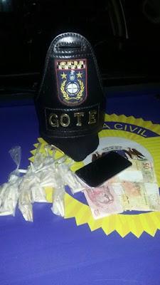 GOTE Guarulhos - Flagrante de tráfico de drogas